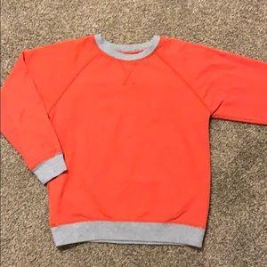 Gymboree Orange/Gray sweatshirt size 7/8
